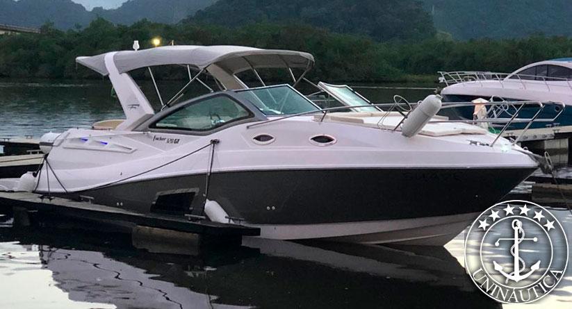 Lancha a Venda Focker 320 ano 2014 com Mercruiser 220 HP barco usado