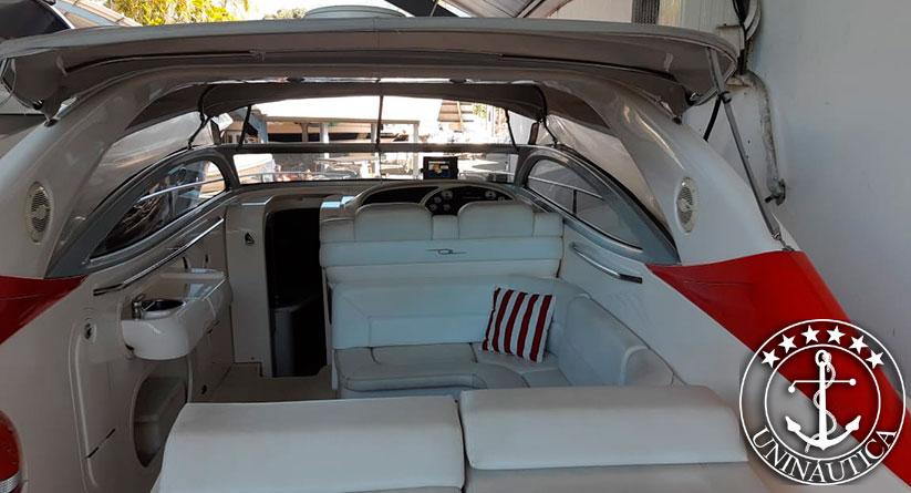Lancha a venda Axtor 46 fabricada pelo estaleiro Axtor Marine com dois motores Volvo Penta de 370HP completa com ar e gerador barcos usados e seminovos