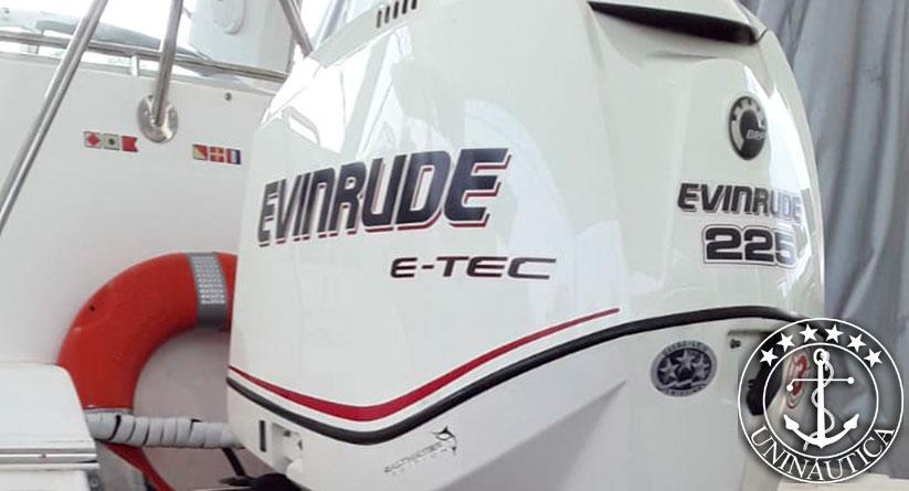 lancha a venda focker 255 fabricada pelo estaleiro FibraFort no ano de 2005 com motor Evinrude de 225HP barcos usados e seminovos