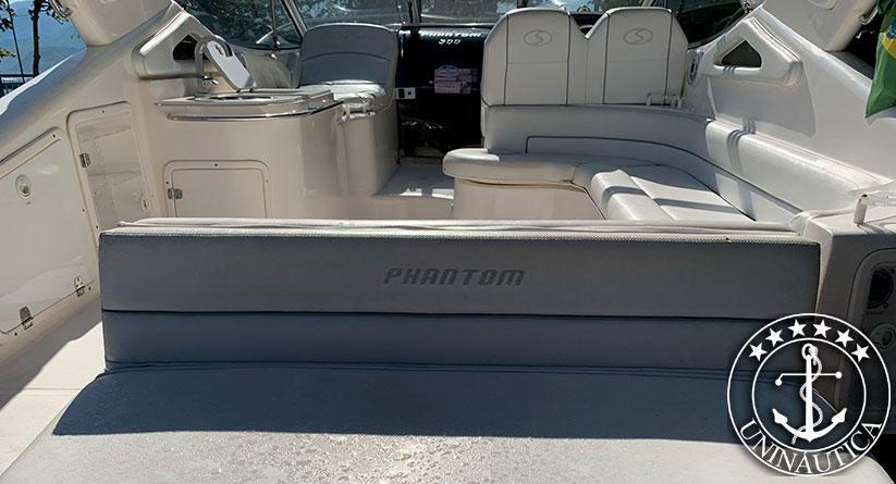 Lancha a venda Phantom 300 com dois motores Mercruiser QSD 2.0L 150HP fabricada em 2012 pelo estaleiro Schaefer Yachts lanchas usadas e seminovas